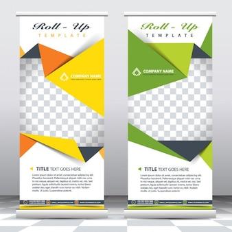 Modelo de banners de negocio de origami