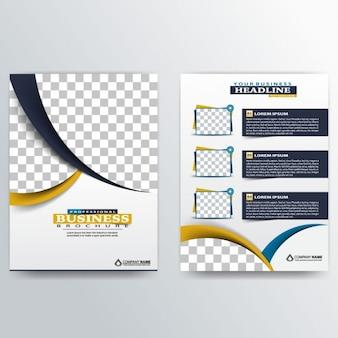 Modelo de folleto abstracto con líneas