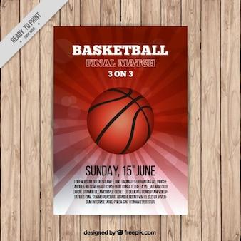 Modelo de folleto de baloncesto
