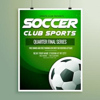 Modelo de folleto de campeonato de fútbol
