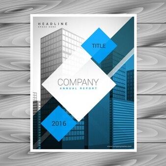 Modelo de folleto de negocio con cuadrados