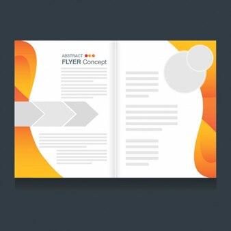 Modelo de folleto moderno con detalles abstractos
