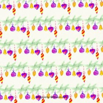 Modelo de la Navidad de la acuarela chuchería