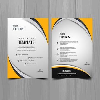 Modelo del folleto de negocios moderno