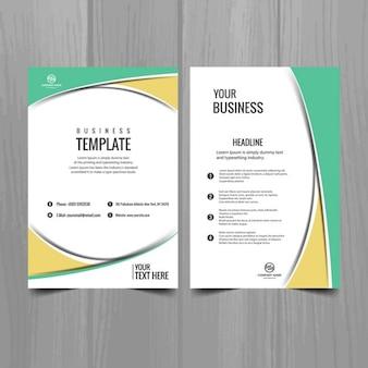 Modelo geométrico de folleto de negocio