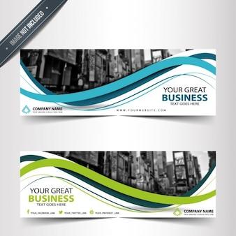 Modelos de elegantes banners de negocios