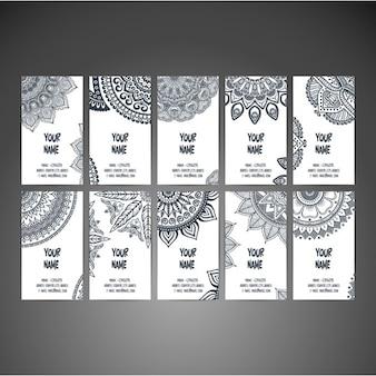 Modelos de tarjetas de negocio en estilo boho