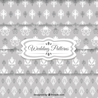 modelos del papel pintado de la boda de color gris