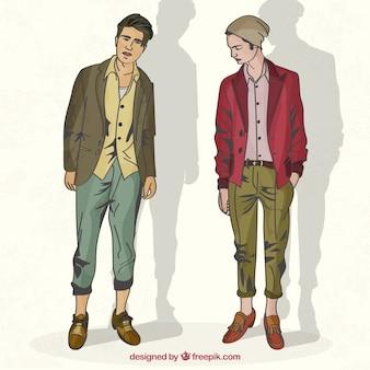 Modelos masculinos modernos