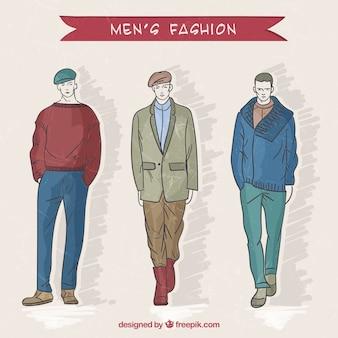 Moderna moda de hombre
