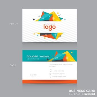 Moderna tarjeta corporativa poligonal