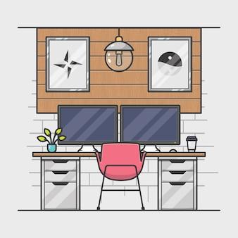 Moderno espacio de trabajo creativo