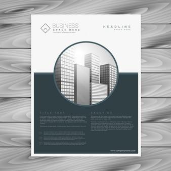 Moderno flyer gris con formas geométricas