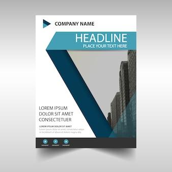 Moderno folleto corporativo, color azul oscuro