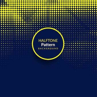 Moderno fondo con puntos de semitono amarillos