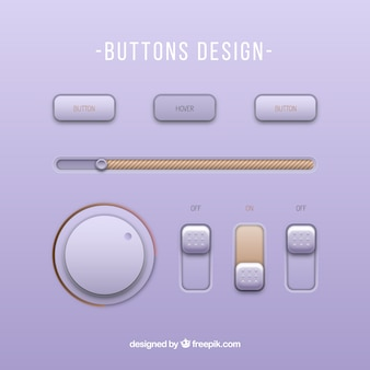 Modernos botones de reproductor de música