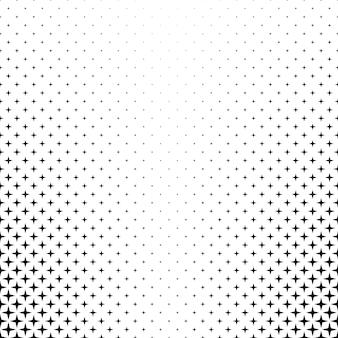 Monocromático estrella patrón - vector gráfico de fondo de formas geométricas