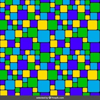 Mosaico colorido de piscina