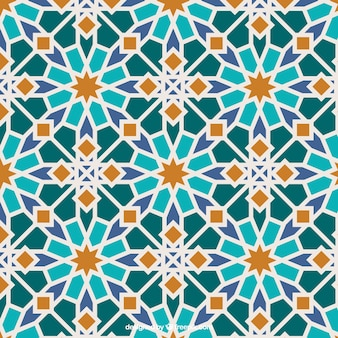 Mosaico islámico de colores