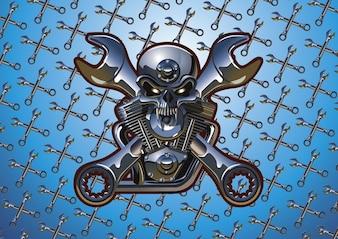 motocicleta cráneo