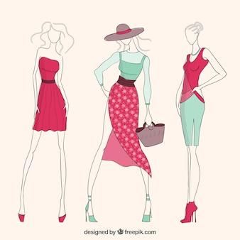 Muchachas de la moda