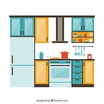 Mostrador fotos y vectores gratis for Disenador de cocinas online gratis