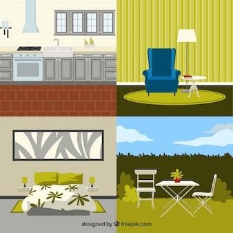 Muebles modernos de hogar