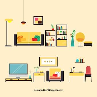 Sala comedor fotos y vectores gratis for Muebles para sala de estar