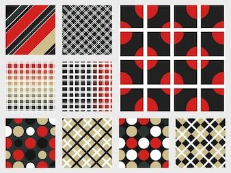 Muestras coloridas vectores patrón decorativo