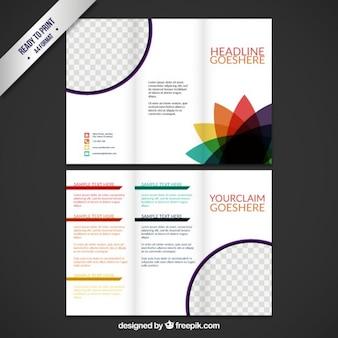 Multicolorerd Modelo del folleto