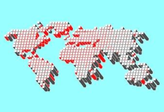 Mundo libre de mapa vectorial