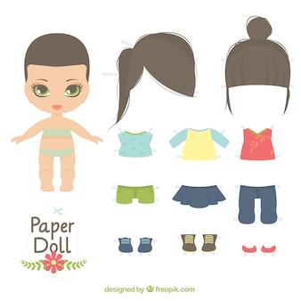 Muñeca de papel linda