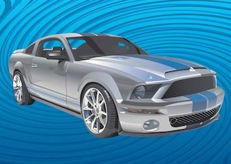 mustang coche vector