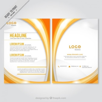 Naranja formas abstractas folleto