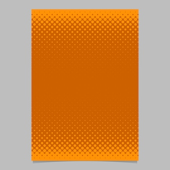 Naranja, resumen, halftone, punto, patrón, folleto, plantilla
