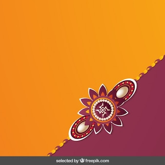 Naranja y bordeaux fondo Rakhi