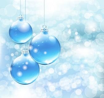 Navidad azul de fondo