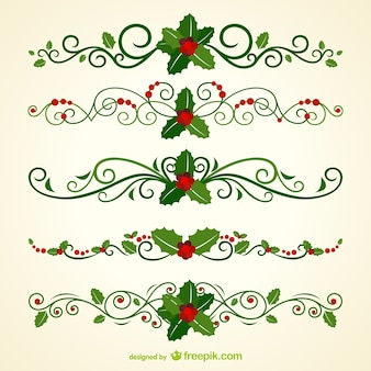 Navidad cabeceras ornamentales
