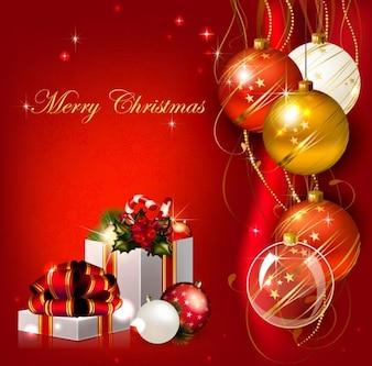 Navidad de vectores de fondo