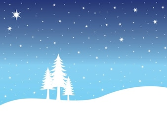 Navidad nieve congelada vector paisaje