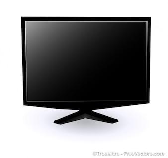 Negro moderno monitor de vector