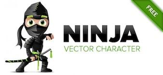 Ninja de carácter vectorial