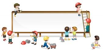 Niños construcción