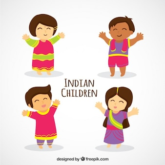 Niños lindos indios