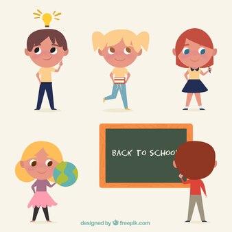 Niños vintage en la escuela