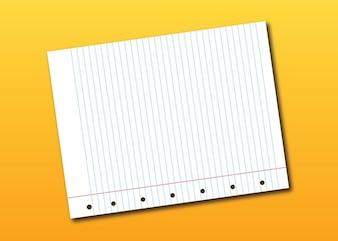 Notebook vector página