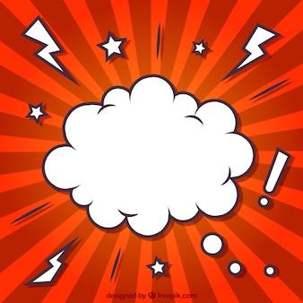 Nube en estilo cómic