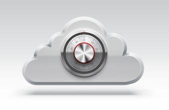Nube icono computación 3d objeto eps 10