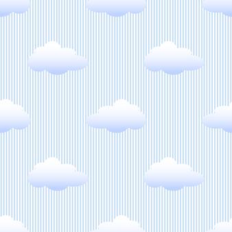 Nube monocromática azul transparente sobre fondo de patrón de franja azul