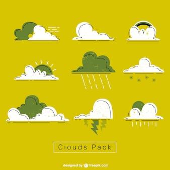 Nubes verdes y blancas empacan